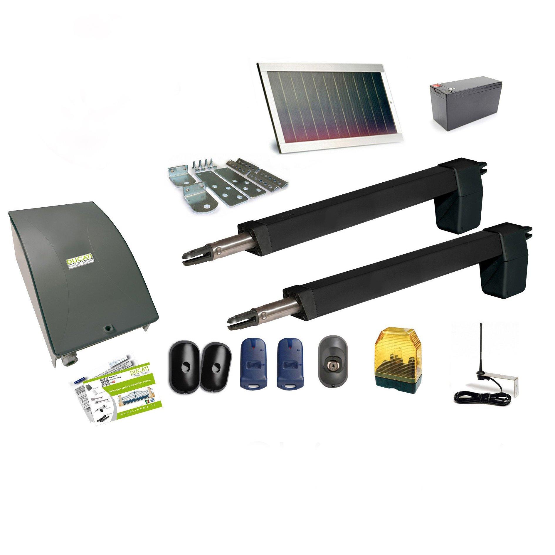 HC812 – 500 Pro Solar automatismo Kit motorización Ducati Home para puerta corredera Solar 100% inalámbrica abre Portal: Amazon.es: Bricolaje y herramientas