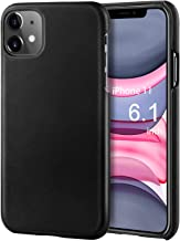 iPhone 11 Leather Case FulSoulComM Basic PU Leather iPhone 11 Case Support Wireless Charging Thin Hard Back Cover Protective Case for iPhone 11 6.1