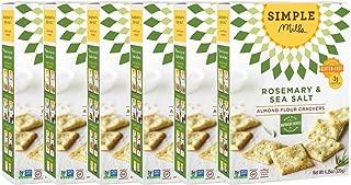 Simple Mills Almond Flour Crackers, Rosemary & Sea Salt, 4.25 Ounce (Pack of 6)