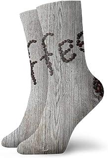 SundriesShop Paquete de calcetines de vestir para hombre, café, madera, hoja, amor,..