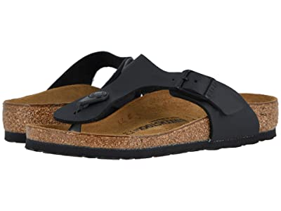 Birkenstock Kids Gizeh (Little Kid/Big Kid) (Black Birko-Flor) Girls Shoes