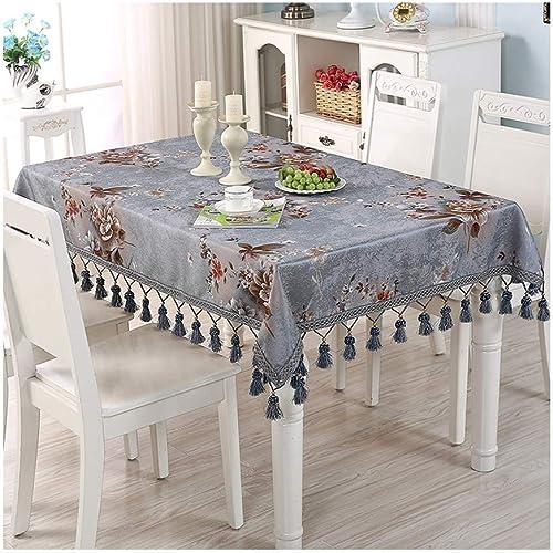 HQQ High-End Nordic Coffee Tischdecke Rechteckige Tischdecke Runde Runde Tischdecke Tischdecke Tischdecke EuropäischenHaushalt (Farbe   C, Größe   130  130cm)