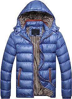 FRAUIT Piumino Uomo Invernale con Cappuccio Cappotto Ragazzo Invernali Caldo Giubbotto Uomini Elegante Inverno Leggero Par...