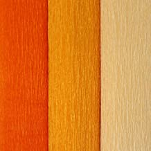 Just Artifacts Assorted Premium Crepe Paper Rolls - 8ft Length/20in Width (3pcs, Color: Shades of Orange)
