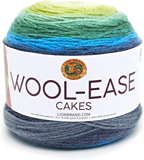 Lion Brand Yarn 621-202 Wool-Ease Cakes Yarn, One Skein, Poseidon