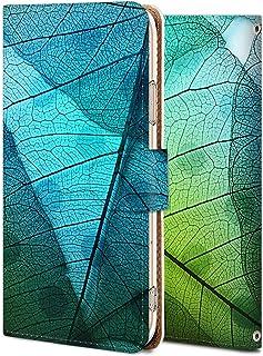 Galaxy s9 plus ケース 手帳型 ギャラクシーs9 plus カバー スマホケース おしゃれ かわいい 耐衝撃 花柄 人気 純正 全機種対応 透明な木の葉 PL_植物 シンプル 12310516