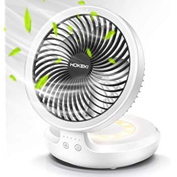 YANGYA USB Mini Desk Fans Handheld Small Light and Quiet Portable Touch Control Reverse Leaf Fan for Home Office Dorm Travel Outdoor-White