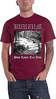 Burzum T Shirt Hvis Lyset Tar OSS Band Logo Official Mens Maroon