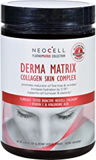 NeoCell Laboratories Collagen Skin Complex - Derma Matrix - Platinum Matrix - Instantly Dissolving - Gluten Free - 90 Capsules (Pack of 3)