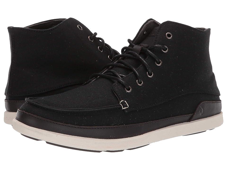 5896265880 OluKai Nalukai Kapa Boot (Black Bone) Men s Lace-up Boots