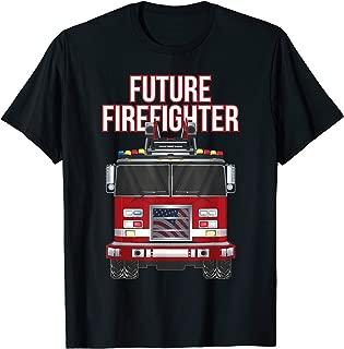 Future American Firefighter Boys Fire Department Truck T-Shirt