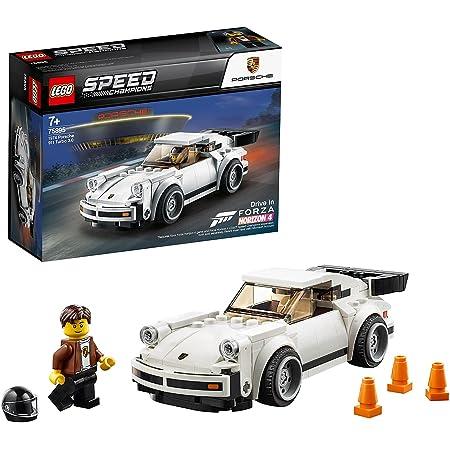 LEGO 75895 SpeedChampions 1974Porsche911Turbo3.0, Véhicules Jouets pour Enfants, modèle de Pack d'extension Forza Horizon 4