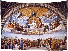 Spring Warner Classic Biblical Art Raphael Disputation of The Most Holy Sacrament Renaissance Art Dorm Decorate Tapestry