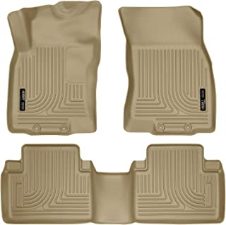 Husky Liners - 98673 Fits 2014-19 Nissan Rogue, 2014-15 Nissan X-TRAIL Weatherbeater Front & 2nd Seat Floor Mats Tan