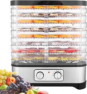 Hopekings Déshydrateur d'aliments 8 étages, déshydrateur de fruits et légumes 400 W avec minuteur 72 h et température régl...