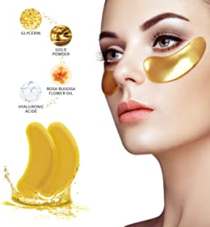 Under Eye Patches - 24K Gold Collagen Under Eye Masks for Dark Circles/Puffy Eyes/Wrinkles/Bags Under Eyes, Hydrated Under Eye Pads Skin Care Treatment (15 Pairs)
