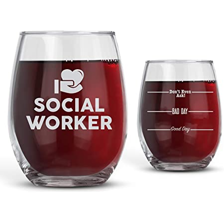 Bad Bananas Social Worker Gifts For Women - Good Day, Bad Day, Don't Even Ask 21 oz Stemless Wine Glass