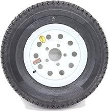2-Pack Radial Trailer Tires w/White Rims ST225/75R15 LRD 5 Lug/4.5 Modular Wheel