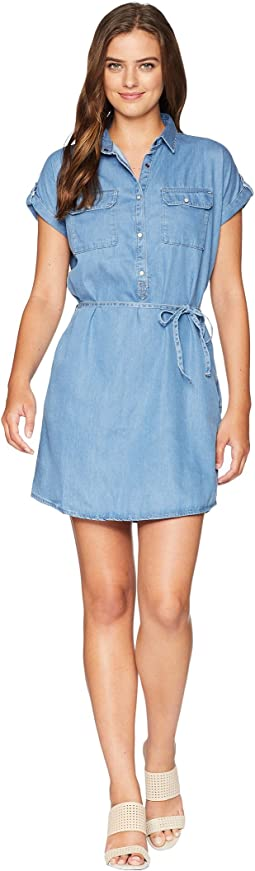 Barbara Dress in Light Denim