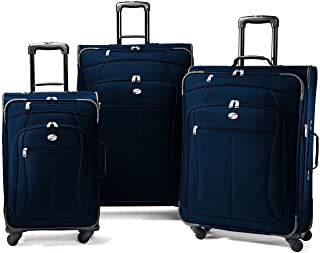 American Tourister AT Pop 3-Piece Softside Spinner Wheel Luggage Set, Navy, (21/25/29)