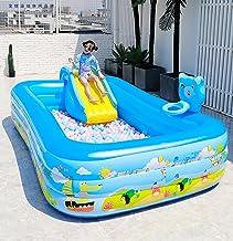 XXRUG Piscina Familiar Hinchable con Tobogán Piscina Infantil Hinchable Automática Engrosado Airbag Independiente Fiesta De Verano En Jardín