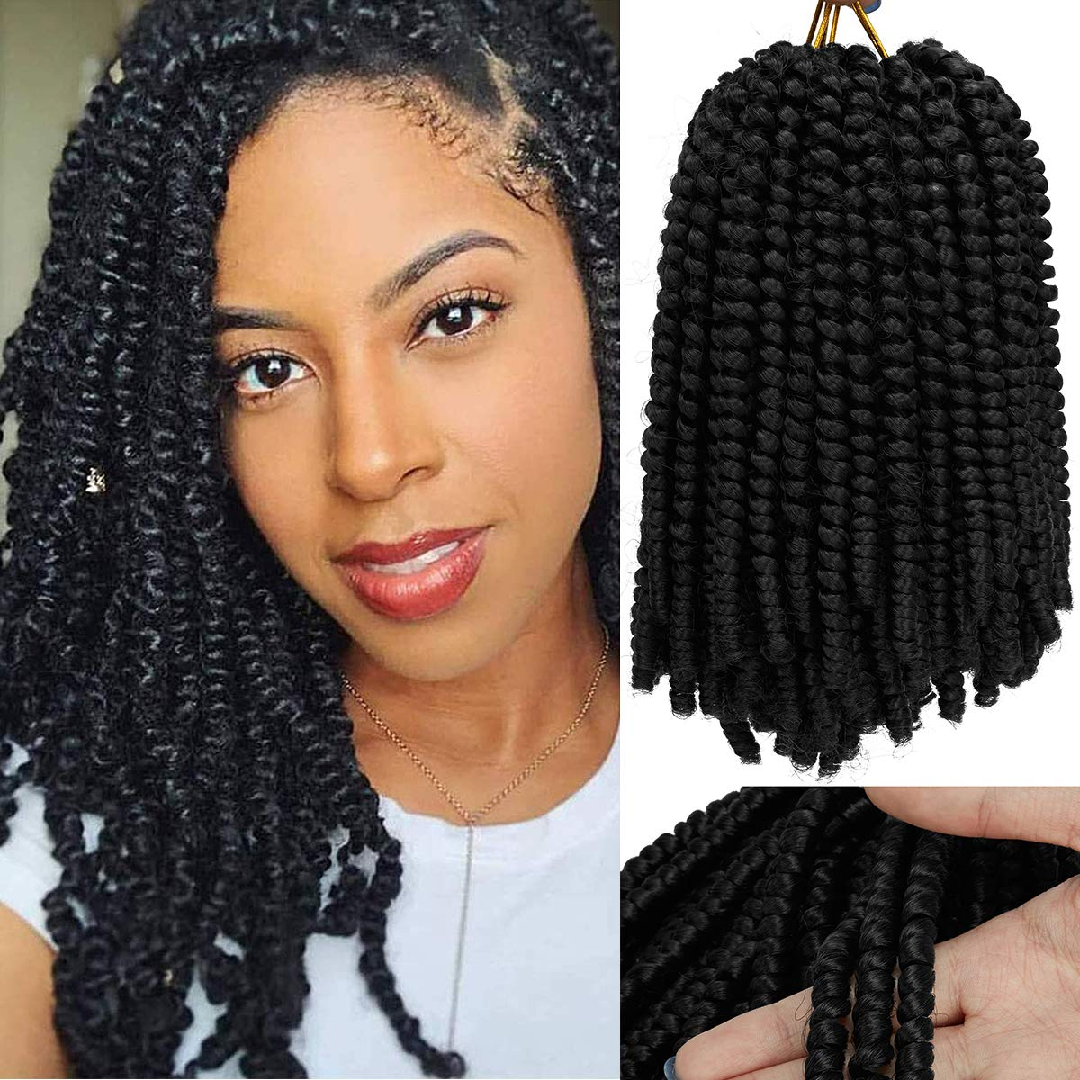 3 Clearance SALE! Limited time! Pack Spring Twist Crochet Braiding 8 Store Croc Inch Hair Bomb