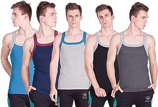 Men's Multi-Colored Pump Gym Vest (Pack of 5)