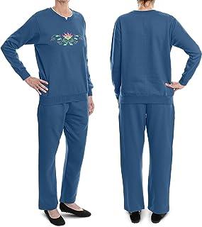 Sponsored Ad - Pembrook Women's Embroidered Fleece Sweatsuit Set