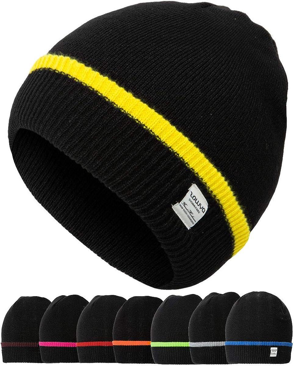 zowya Warm discount Knit Cuff Super intense SALE Beanie Snug Slouchy for Men Women Winter