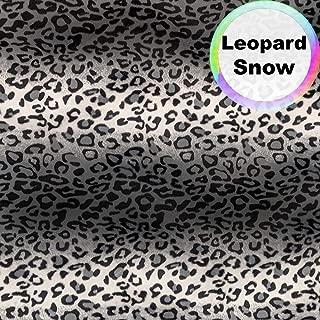 Barcelonetta | Animal Print Fur Fabric | Velboa Fabric | Faux Animal Fur | Short Pile | Animal Texture | 62'' Inch Wide | DIY Crafts, Decoration, Upholstery (Leopard Snow, 1 Yard)
