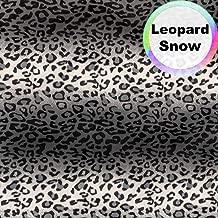 Barcelonetta   Animal Print Fur Fabric   Velboa Fabric   Faux Animal Fur   Short Pile   Animal Texture   62'' Inch Wide   DIY Crafts, Decoration, Upholstery (Leopard Snow, 1 Yard)