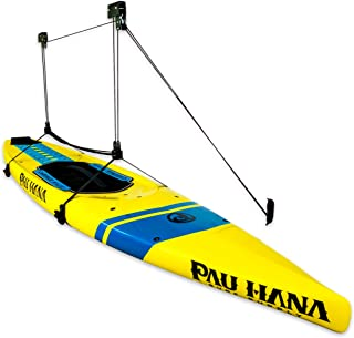 StoreYourBoard SUP and Surfboard Ceiling Storage Hoist, Hi Lift Home and Garage Hanging Pulley Rack, Pro