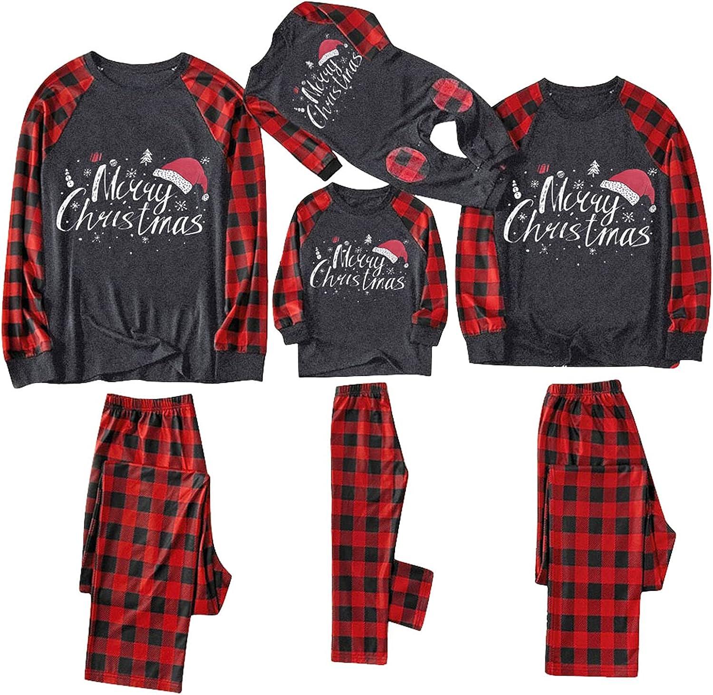 Christmas Family Pajamas Matching Outfits Sets, Men Women Cartoo