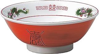 結彩の蔵 ラーメン鉢 赤巻三ツ竜 6.8寸 高台丼 ヤ688-076