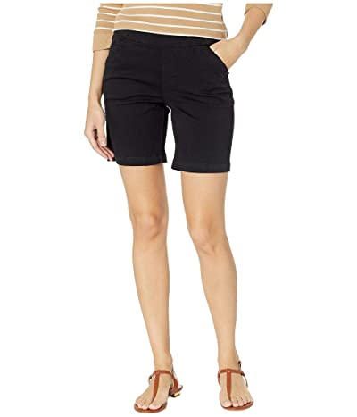 Jag Jeans 8 Gracie Pull-On Shorts in Twill (Black) Women