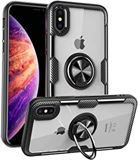 iPhone XR Case Thin,iPhone XR Cases Clear iPhone XR Case Transparent,iPhone XR Case Stand Magnetic Ring,iPhone XR Case Sho...