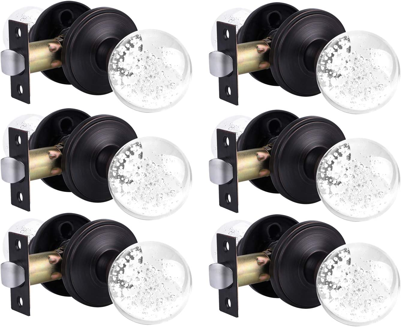 KNOBWELL Passage Door Knob Without Glass Rubbed Oil San Antonio Mall Kn Limited Special Price Lock