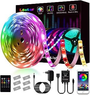 Tiras LED, L8star Tiras de Luces LED Smart 5050 Control APP,Luces Led Habitacion con Controlador Bluetooth Sincronizar, co...