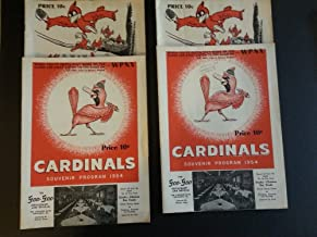 1954 BB Columbus Red Birds Scored Programs Lot of 2 Diff plus 2 extra Columbus Excellent to Mint