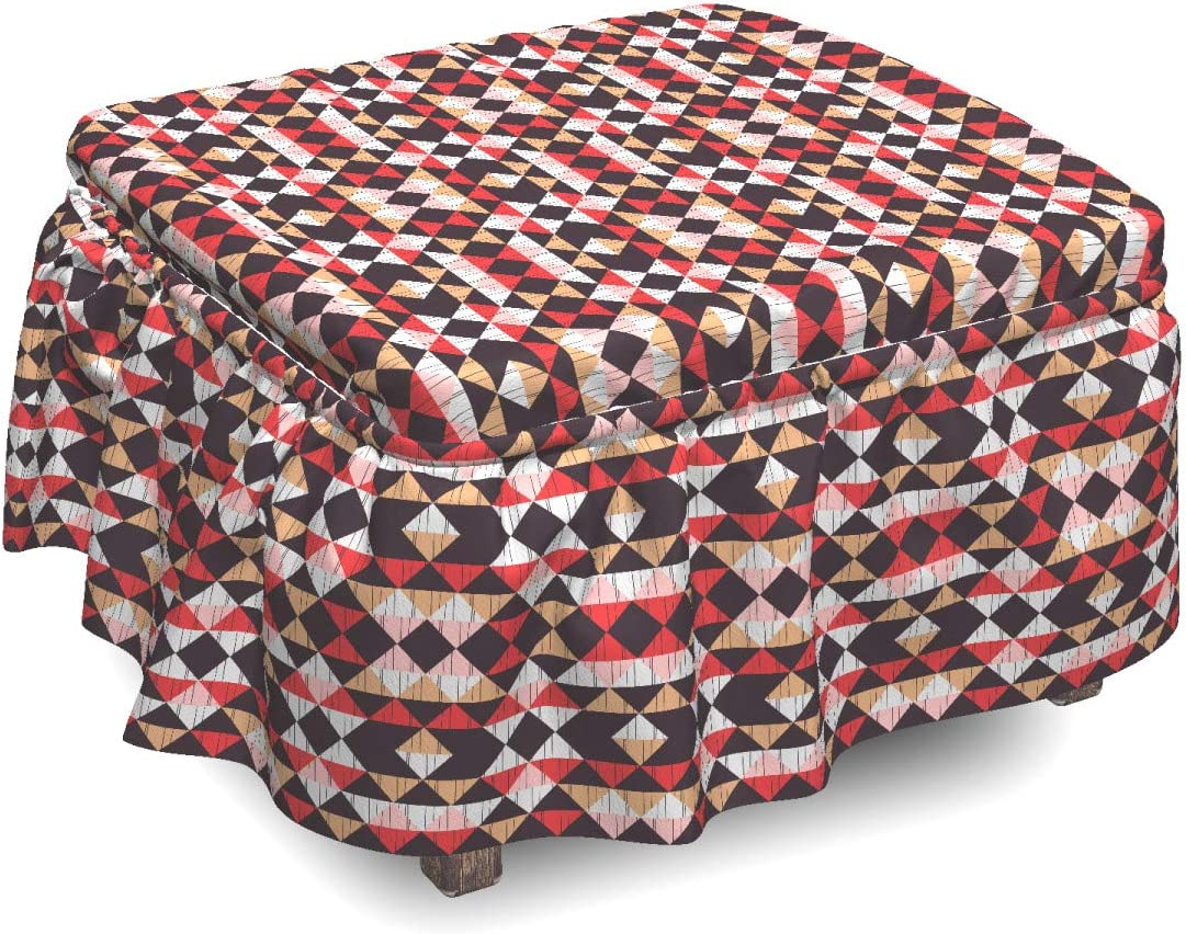 Ambesonne excellence Geometric Ottoman Cover Max 57% OFF Boho Piece 2 Triangles Slipc
