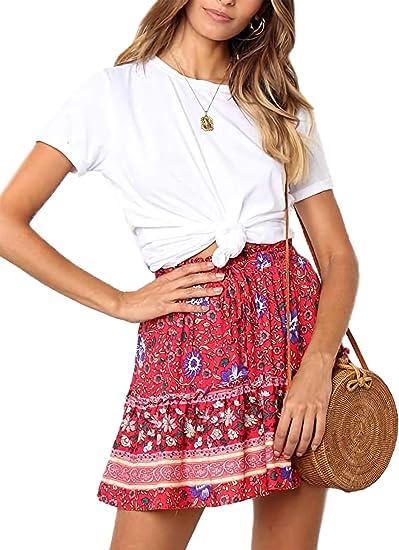 cute boho skirts red boho skirt native