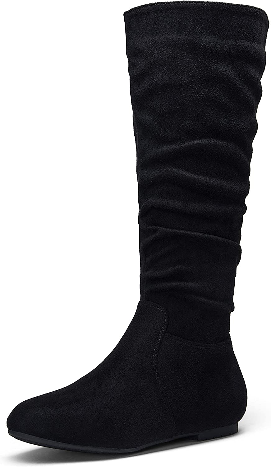Jeossy Women's 40 Slouch Boots Knee High Tall Slouchy Boot Flat Wide Mid Calf Boots