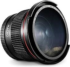 Altura Photo 58MM 0.35x Fisheye Canon Wide Angle Lens (w/Macro Portion) for DSLR Cameras EOS Rebel 70D 77D 80D 90D T8i T7 ...