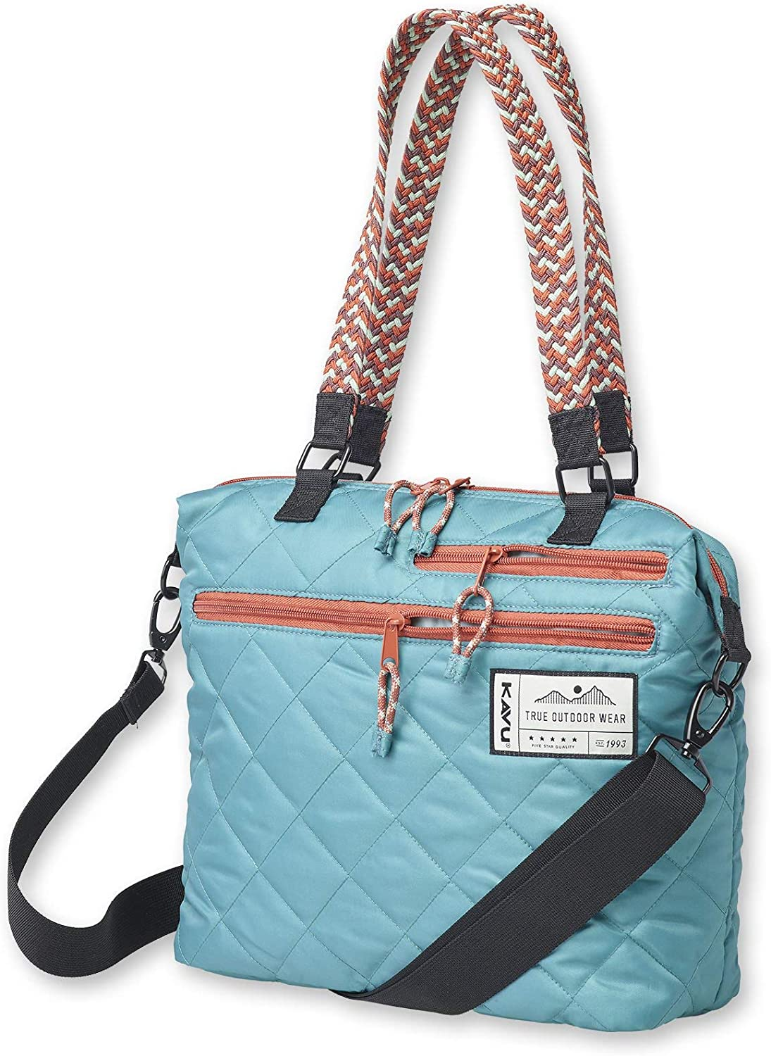 KAVU Puffentote Bag Crossbody Sling Travel Quilted Tote