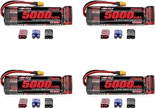 Venom 8.4V 5000mAh 7-Cell NiMH Battery Flat with Universal Plug (EC3/Deans/Traxxas/Tamiya) x4 Packs