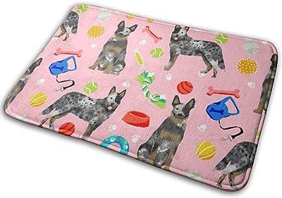 "Australian Cattle Dog Toys - Dog Toys, Dog, Dog Breeds, Cattle Dog - Blue Heeler - Pink_25705 Doormat Entrance Mat Floor Mat Rug Indoor/Outdoor/Front Door/Bathroom Mats Rubber Non Slip 23.6"" X 15.8"""