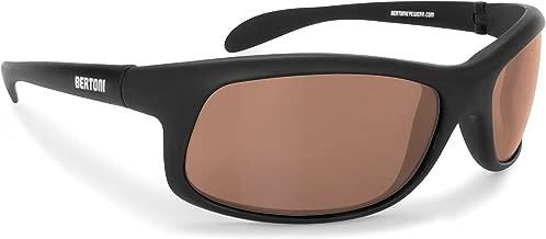 Bertoni Photochromic Polarized Sunglasses Cycling Fishing Watersports Running Ski - P545FT Italy - Sporting Wraparound Windproof Glasses