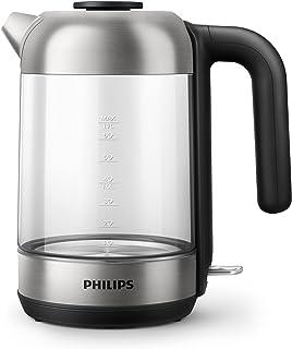 Philips Waterkoker Series 5000 - 2200 Watt - Waterreservoir 1.7 liter - Te vullen via deksel - Glazen koker - Automatisch ...
