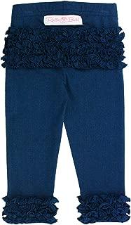 Baby/Toddler Girls Soft Knit Ankle Length Ruffle Leggings