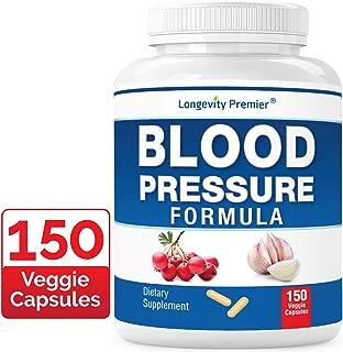 Longevity Blood Pressure Formula [150 Capsules] - with 12+ Natural Herbs. Best Blood Pressure Supplement